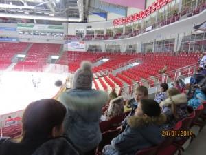 Детский сад №470 на ледовой арене Трактор. Челябинск, январь 2014г.